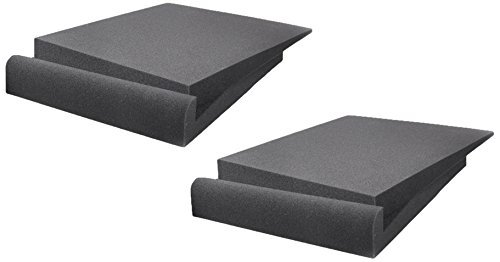 Studio Foam SF912 Acoustic Studio Monitor Sound Isolation Pads Dampening Recoil Stabilizer Speaker Risers (7.5'' x 9'' Each) - Recoil Monitor Stabilizer