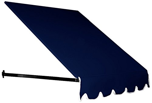 Awntech 6-Feet Dallas Retro Window/Entry Awning, 31-Inch Height by 24-Inch Diameter, Navy (Awning 6 Ft)
