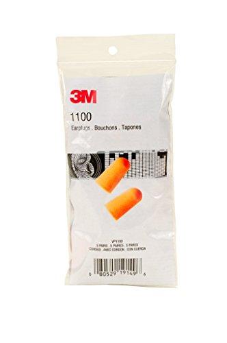 3M 1100 Uncorded Foam Earplugs in Small Pack (3m Hypoallergenic Ear Plugs)