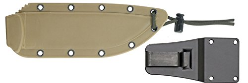 ESEE 6P Black Fixed Blade Knife with Desert Brown Molded Polymer Sheath by ESEE (Image #1)