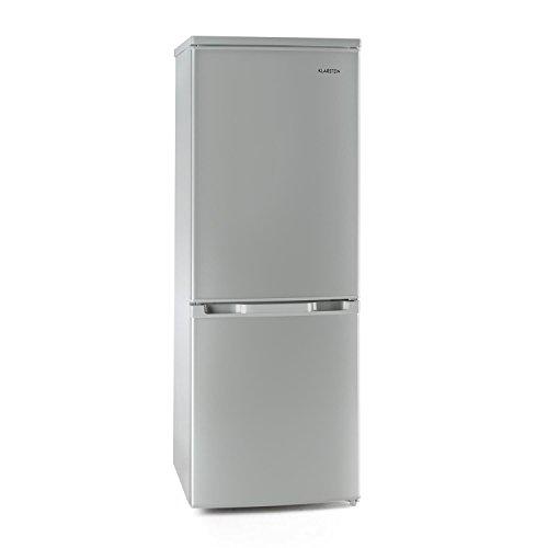Klarstein Bigpack Kühl-Gefrier-Kombination A++ (Kühlschrank 115 Liter, Gefrierschrank 45 Liter, LED-Beleuchtung, Gemüsefach) silber