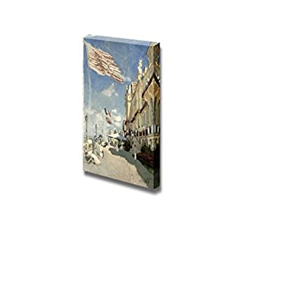 Hotel des Roches Noires, Trouville, 1870 by Claude Monet - Canvas Print Wall Art Famous Oil Painting Reproduction - 48