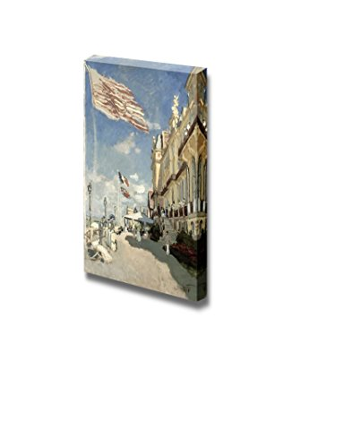 Hotel des Roches Noires Trouville 1870 by Claude Monet Print Famous Oil Painting Reproduction