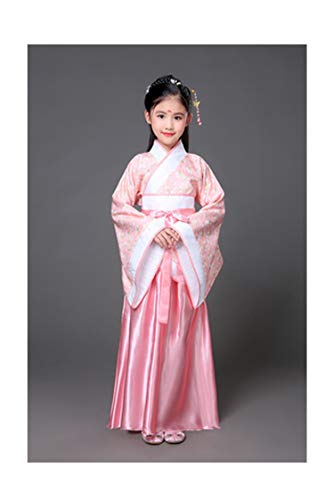 Children Beautiful Dance Costume Princess Dress Fairy Clothing Traditional Chinese Clothing for Kids Hanfu Tang Dynasty Dress,Pink,7Th for $<!--$30.81-->