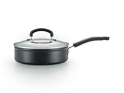 T-fal C5618264 Titanium Advanced Nonstick Thermo-Spot Heat Indicator Dishwasher Safe Cookware Jumbo Cooker, 5-Quart, Black