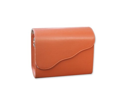 DSstyles Retro PU Leather Camera Shoulder Case Bag Cover for Fujifilm Instax Mini 8 - Brown
