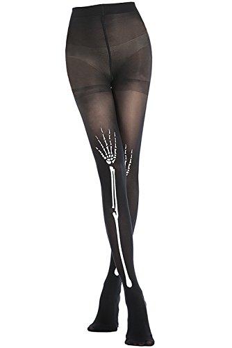 - Stocking Fox Women's 80-Denier Skeleton Print Tight