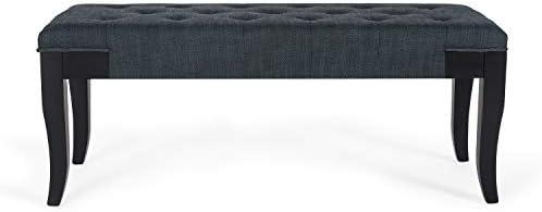 Homebeez Ottoman Bench Tufted Rectangular Fabric Foot Rest Stool