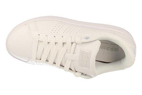 adidas Cf Advantage Cl W, Zapatillas de Deporte para Mujer Blanco (Ftwbla / Ftwbla / Plamat)