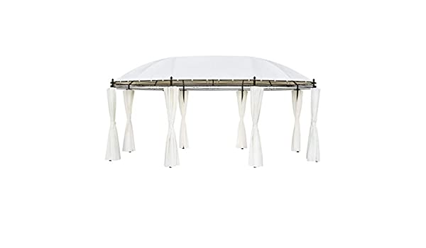 FAMIROSA Cenador Blanco Crema 530 x 350 x 265 cm: Amazon.es: Hogar