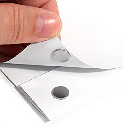 forti magneti adesivi per bacheca 11 x 1 mm argento 10 pezzi Magnastico Magneti a disco autoadesivi N35 rotondi al neodimio