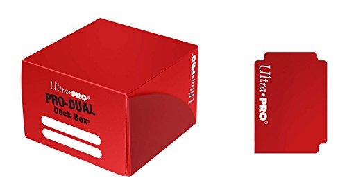 (Ultra Pro Dual Deck Box, Standard, Red)