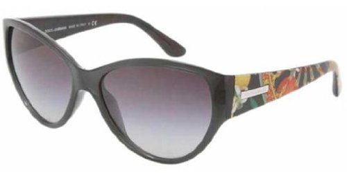 DOLCE&GABBANA D&G DG Sunglasses DG 6064 BLACK 2510/8G - Sunglasses Eyewear D&g