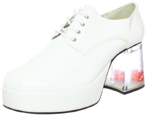 White Pimp Shoes (Funtasma by Pleaser Men's Halloween Pimp-01,White Patent,L)