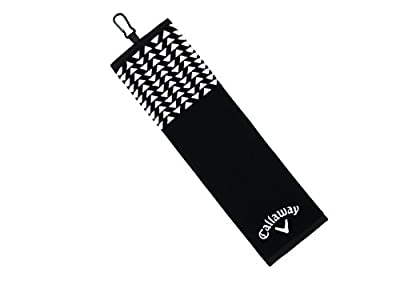 Callaway Golf Women's 2017 Cotton Up town Towel, Black, 16 x 21