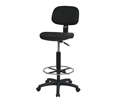 Premium Sculptured Foam Seat and Back Drafting Chair, 23 x 33, Black (Sculptured Seat)