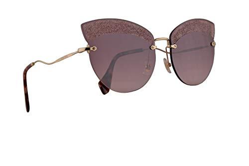 Miu Miu MU58TS Sunglasses Pale Gold w/Pink Gradient Pink Mirror Silver 65mm Lens W3Q149 MU 58TS SMU 58TS ()