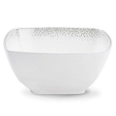 Noritake Alana Platinum Square Bowl, 5-3/4-inch, 30-ounce
