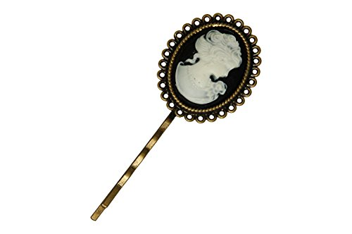 Victorian Lady Cameo Antique Bronze Hair Pin -2.75