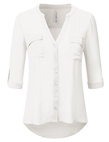 Ivory Blouse Shirt - 6