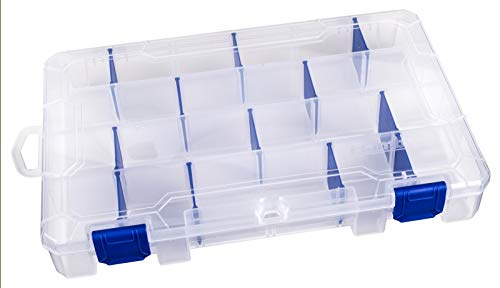 Flambeau Outdoors 4007 Tuff Tainer - 24 Compartments (Includes (12) Zerust dividers), Clear