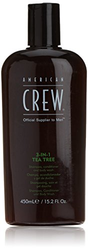 American Crew 3-In-1 Tea Tree Body Cleanser, 15.02 Ounce -  7221484000