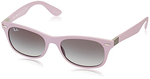 Ray-Ban INJECTED MAN SUNGLASS - MATTE ANTIQUE PINK Frame GREY GRADIENT Lenses 52mm - Ban Pink Ray