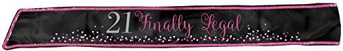 Amscan 340077 Brilliant 21st Birthday Fabric Sash, 30