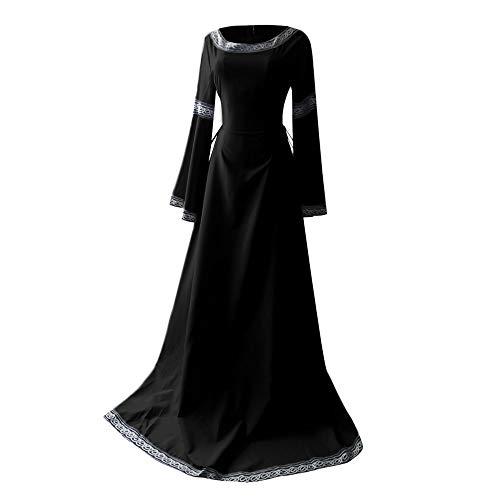 Women Medieval Dress Clearance Sale,NDGDA Renaissance Irregular Long Sleeve Cosplay Maxi Dress