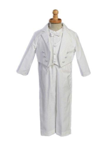 UPC 639302680575, Boy's White Cotton Tuxedo with Pique Vest - Size S (3-6 Month)