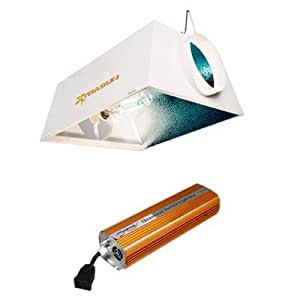 Hydrofarm Quantum Xtrasun 8AC Grow Light System & Flora Hydroponics pH Control Kit Bundle Pack - 1000W
