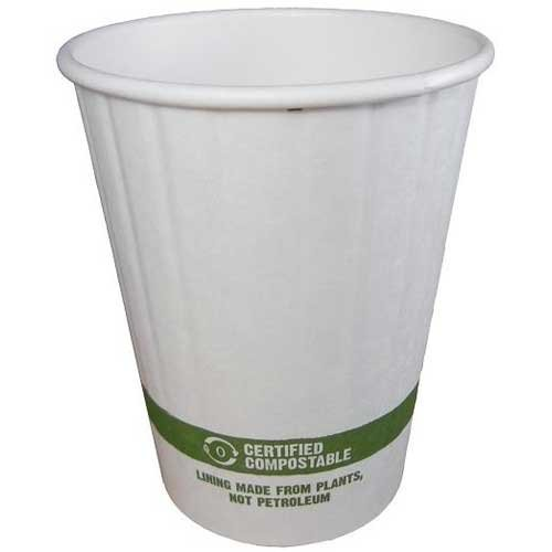 12d Cup - World Centric Compostable Double Wall Paper Hot Cup, 12 Ounce - 1000 per case.