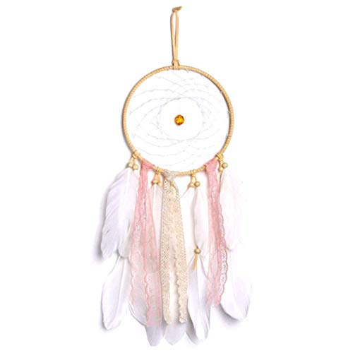 Handmade Dream Catcher Indian Wall Hanging Home and Garden Decor Ornament Craft Pink