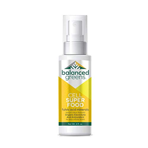Cell Superfood Fulvic Acid Humic Mineral Spray, Trace Minerals, Cellular Detox, Antioxidant, Inflammation, Enzymes, Electrolytes, Gluten Free, Non GMO, 4 oz 80 Day Supply