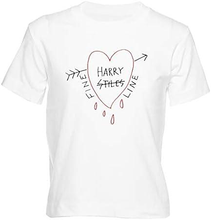 Fine Line Heart Camiseta Niño Niña Niños Blanco T-Shirt Boys Girls Kids White