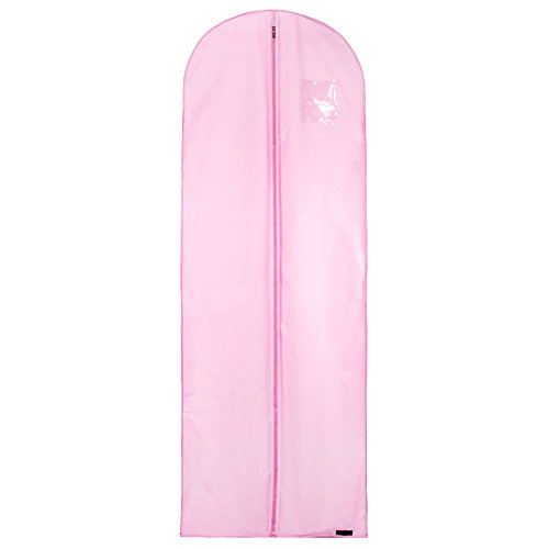 Hangerworld Single Pink Dress & Gown Bag with Carry Strap - Breathable Showerproof Clothes Storage Travel Cover Wedding & Bridal Wear 72 Inches by HANGERWORLD