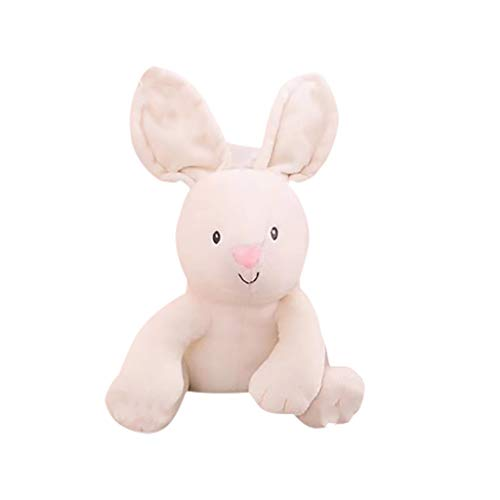 (Jonerytime❤️Music Bunny Animated Plush Stuffed Animal Toy Home Decor White)