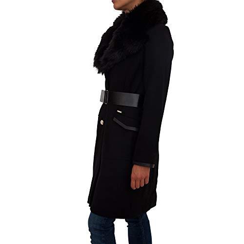 Pelo Nero Largo Abrigo Negro Cuello Rosemary Guess wgPnIYfqgx