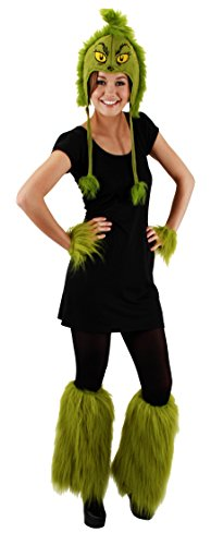 Elope Dr Seuss Grinch Fuzzy Leg (The Grinch Halloween Costumes)