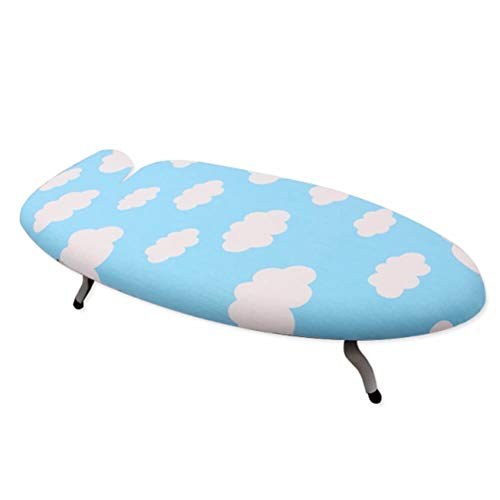 Small 4-Leg Compact Wide Laundry Ironing Board Heavy Duty, Blue