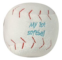 Plush Baseball (Stephan Baby 135020 Plush Baseball Toy)
