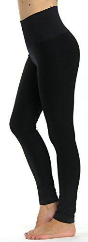 Prolific Health High Compression Women Pants Yoga Fitness Leggings (Large/X-Large, Black)