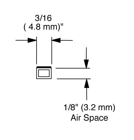 EconoSpace, Art and Glass Separator, 1/8'' airspace, 100 ft bundle - CLEAR by EconoSpace