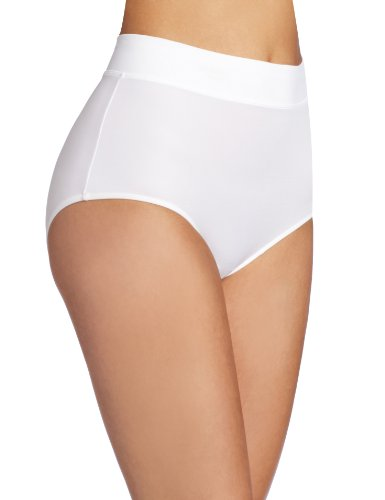 Warner's Women's No Pinching. No Problems.  Modern Brief Panty, White, 6