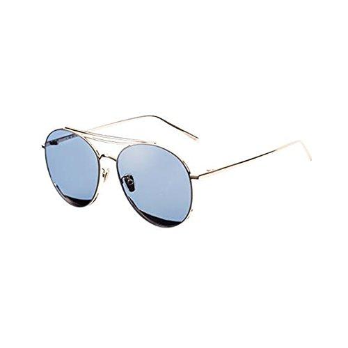 de de aire para regalo al polarizadas sol UV400 gafas casuales sol de Gold de sol UV personalidad mujer de conducción Gafas protección libre gafas visera Nuevas protección estrella de Blue Frame Vintage excursionista IUqwU0vP