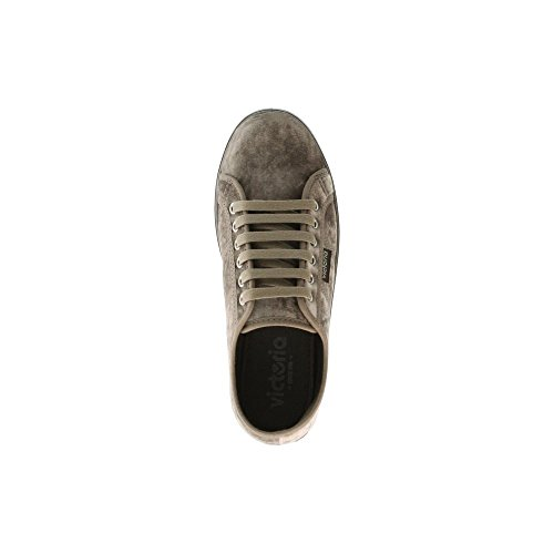 Zapatillas Victoria 09225 - Plataforma Blucher Suela Caramelo Berenjena Taupe