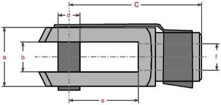 5 St/ück M5 Sicherungsbolzen//ES-Bolzen verzinkt Gabelkopf 5x20