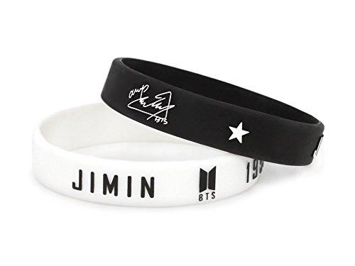 Fanstown kpop BTS Bangtan Boys 3D silicone rubber wristband accessories bracelet (2 pieces)