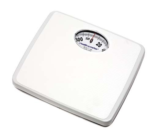 Square Analog Health-O-Meter Scale in White