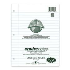 Roaring Spring - Filler Paper, College Ruled, 100 Sheets, 11quot;x8-1/2quot;, White, Sold as 1 Package, ROA 13986 by Roaring Spring